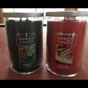 Yankee Candles New Sparkling Cinnamon Balsam